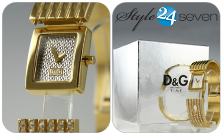 Dazzle in an authentic Dolce & Gabbana Spy Me ladies gold-plated watch for only R1995! Delivery included