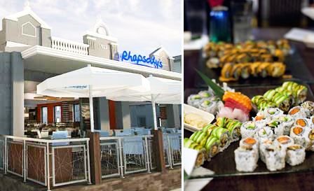 Indulge at Rhapsody's, Green Point! Pay R109 for a 30-pc sushi platter for 2 (value R220) or R299 for a drinks card worth R500
