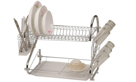 Enjoy kitchen efficiency with a 2-tier dish rack for only R250, including delivery