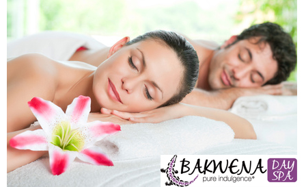 Indulge in a half day spa package (R999) plus an option for a Rasul Chamber (R1499) for 2 at Bakwena Day Spa, Centurion