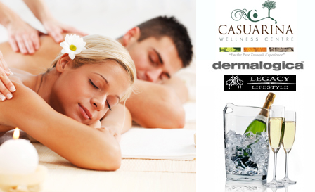 Utter Indulgence! Luxurious Couples Delight package for 2 plus Pongracz and more for R1799 at Casuarina Wellness Centre