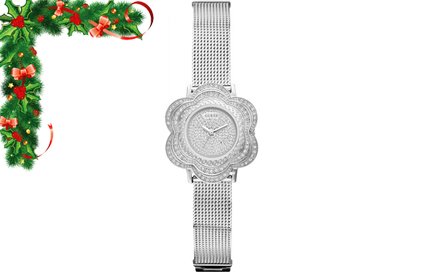 Beautifully Feminine! Pay R1199 for a silver ladies flower GUESS watch, including delivery