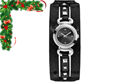 Retro Timepiece! Embossed genuine leather GUESS ladies watch for R999, including delivery