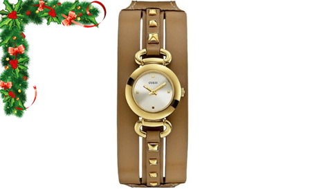 Rustic style! Genuine Leather brown GUESS ladies watch with gold details for R999, including delivery