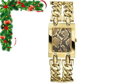 Heavy Metal! GUESS ladies gold chain bracelet watch for R1199, including delivery