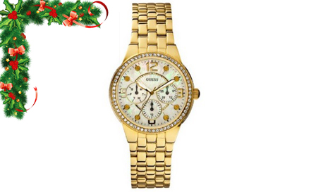 Stay on top of the times with a GUESS ladies gold watch for R1299, including delivery