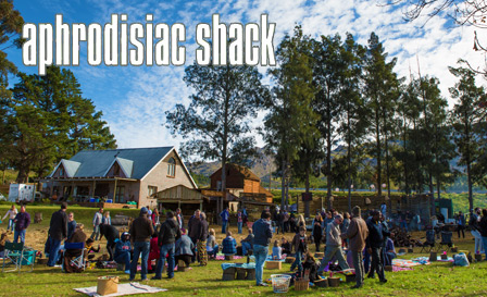 Make a day out of it! Enjoy a picnic basket and wine for 2 (R159) or 2 adults & 2 kids (R249) at Aphrodisiac Shack, Villiersdorp