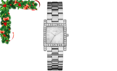 Effortless Elegance! Pay R1199 for a silver tone ladies GUESS watch, including delivery
