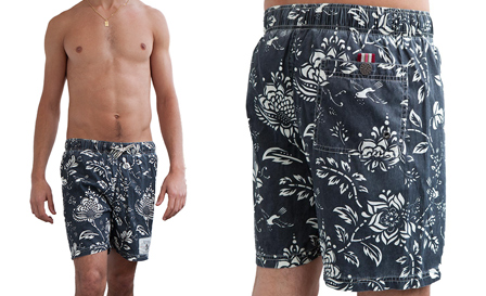 Beach Bod! Pay R599 for a blue floral REPLAY 'Sun Fun' boardshorts, including delivery