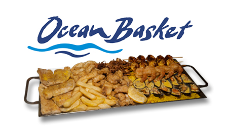 Dip into a decadent seafood platter for 2 at your choice of two Ocean Basket branches for only R225