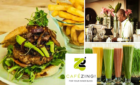 Luscious lunch! Burgers, Salads and Gourmet sandwiches, from R79 for 2 at Cafe Zing, Morningside (save up to R139)