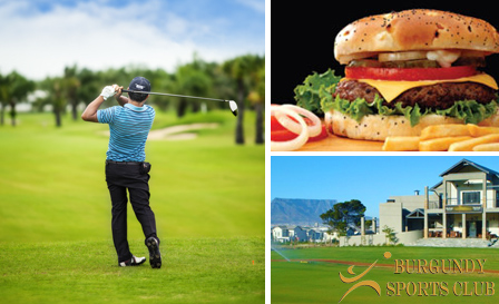 Unlimited golf and beef or chicken burgers at Burgundy Sports Club, from R119 for 2 (save up to 55%)