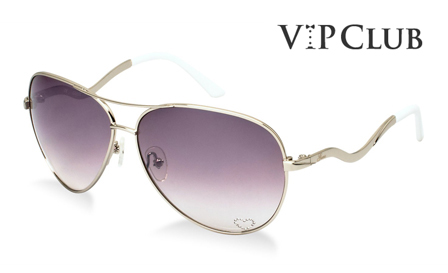 GUESS! Pay R899 for ladies aviator white sunglasses, including delivery (save R2000)