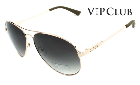 GUESS! Pay R899 for Unisex pilot aviator gold sunglasses, including delivery (save R2000)