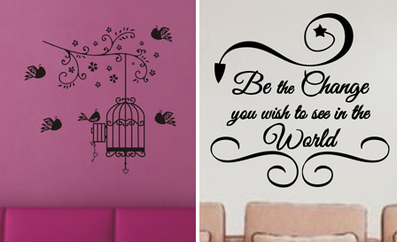 'Birdcage' or a 'Be the change' wall sticker for R149, including delivery (save 50%)