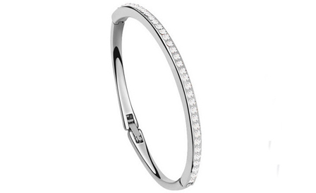 Diamante clasp bangle (silver, blue or pink) for R299, including delivery (save 25%)