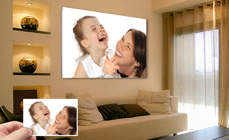 Personalised mounted canvas prints in various sizes up to A1 from R79 for an A4 (save up to 67%)