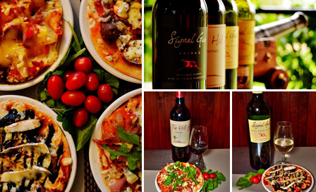 Wine and pizza pairing from R129 for 2 at Ke-Monate @ Signal Gun Wine Farm, Durbanville (save up to 50%)
